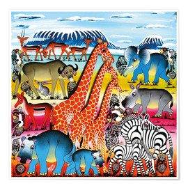 Poster  Animal life in Africa - Mrope
