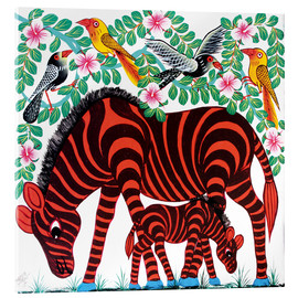 Acrylic print  Red Zebras - Mrope
