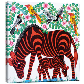 Canvas print  Red Zebras - Mrope
