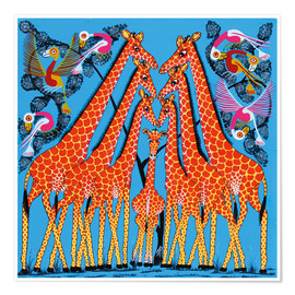 Poster  Dance of the Giraffe - Mrope