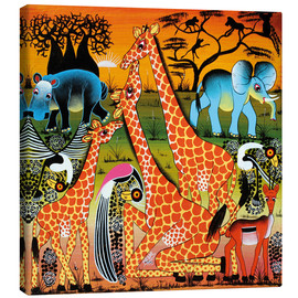 Canvas print  Family happiness in the savannah - Mrope