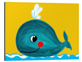 Aluminium print  Frida, the friendly whale - Little Miss Arty