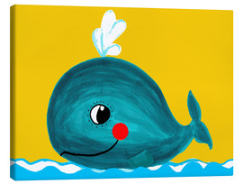 Canvas  Frida, the friendly whale - Little Miss Arty