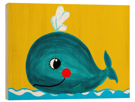 Wood  Frida, the friendly whale - Little Miss Arty