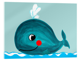 Acrylic glass  Willow, the friendly whale - Little Miss Arty