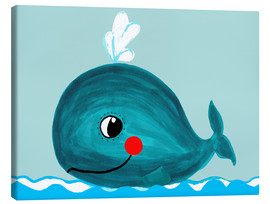 Canvas  Willow, the friendly whale - Little Miss Arty