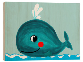 Wood  Willow, the friendly whale - Little Miss Arty