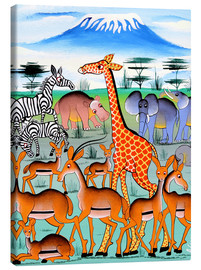 Canvas print  Herds in the morning - Adams