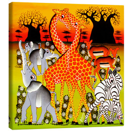 Canvas print  African family - Adams