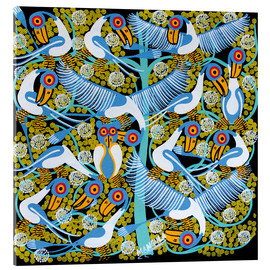 Acrylic print  Colorful flock of birds in the tree crown - Mangula