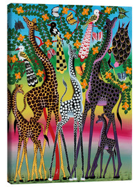 Canvas print  Giraffes in African colors - Maulana