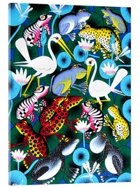 Acrylic print  Frogs and cranes - Abdallah