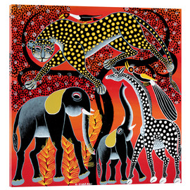 Acrylic print  Animals on the big night tree - Hassani