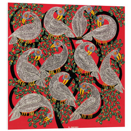 Foam board print  Vultures in the tree crown - Hassani