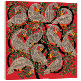 Wood print  Vultures in the tree crown - Hassani