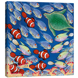 Canvas print  Fish with turtle - Majidu