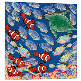 Foam board print  Fish with turtle - Majidu