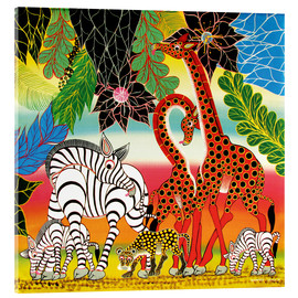 Acrylic print  African animals in the jungle - Chiwaya