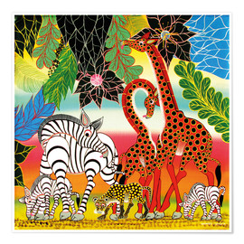 Premium poster  African animals in the jungle - Chiwaya