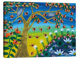 Canvas print  Bees on a tree - Majidu