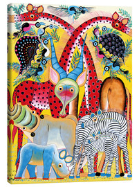 Canvas print  Colorful wild animals of Africa - Lewis