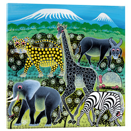 Acrylic print  Meeting of the Animals - Iddi