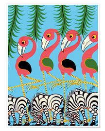 Premium poster  The Dance of the Flamingos - Maulana