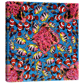 Canvas print  Clown fish school on coral reef - Majidu