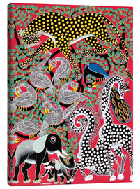Canvas print  Animal celebration at large tree - Hassani