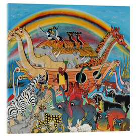 Acrylic glass  The Animal Ark Under the Rainbow - Malikita