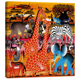 Canvas print  Africa at sunset - Mrope