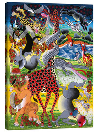 Canvas print  Funny play on the meadow - Mkumba