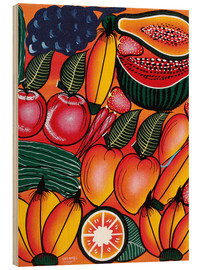 Wood print  Exotic Fruits All kinds of - Chilambo