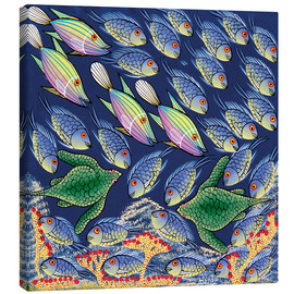 Canvas print  Reges fish and bustle - Majidu