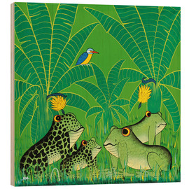Wood print  Frogs in the swamp - Issa