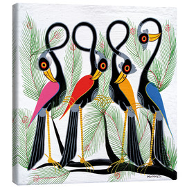 Canvas print  Colorful Crane force - Chiwaya