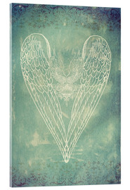 Acrylic glass  Vintage Winged Heart - Sybille Sterk