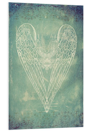 Foam board print  Vintage Winged Heart - Sybille Sterk