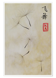 Premium poster  Fei Wu - dancing in the wind - Thomas Herzog