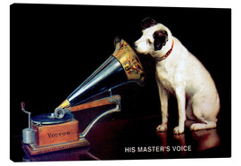 Canvas print  Victor Grammophon - His master's voice - Advertising Collection
