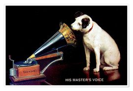 Premium poster Victor Grammophon - His master's voice