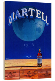 Wood print  Martell Cognac - Advertising Collection