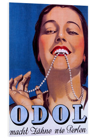 Foam board print  Odol makes teeth like pearls - Advertising Collection