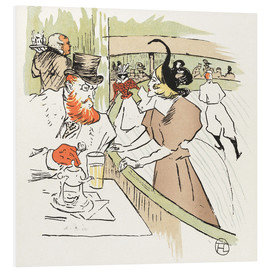 Foam board print  the Ice Palace - Henri de Toulouse-Lautrec