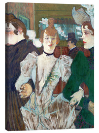 Canvas print  la Goulue at the Cabaret - Henri de Toulouse-Lautrec