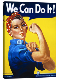 Canvas print  We Can Do It! - Advertising Collection