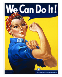 Premium poster  We Can Do It! - Advertising Collection