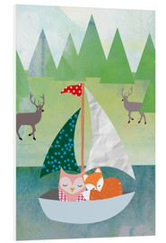 Forex  Cute Owl and Fox Boat - GreenNest