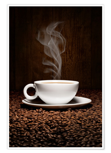 Premium poster Coffee cup bean aroma