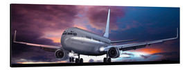 Aluminium print  Take off for passenger aircraft in the evening - Kalle60